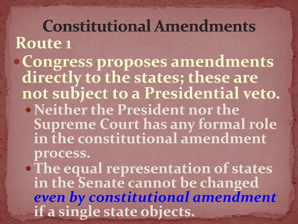 PPT - AMENDING THE CONSTITUTION PowerPoint Presentation - ID