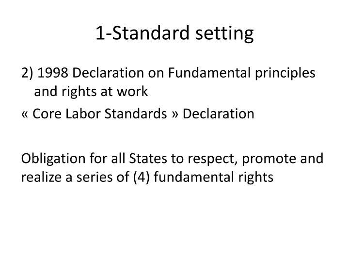1-Standard setting