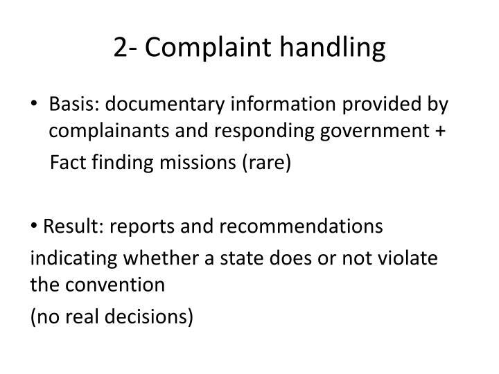 2- Complaint