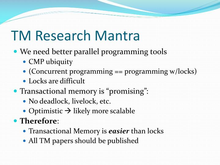 Tm research mantra