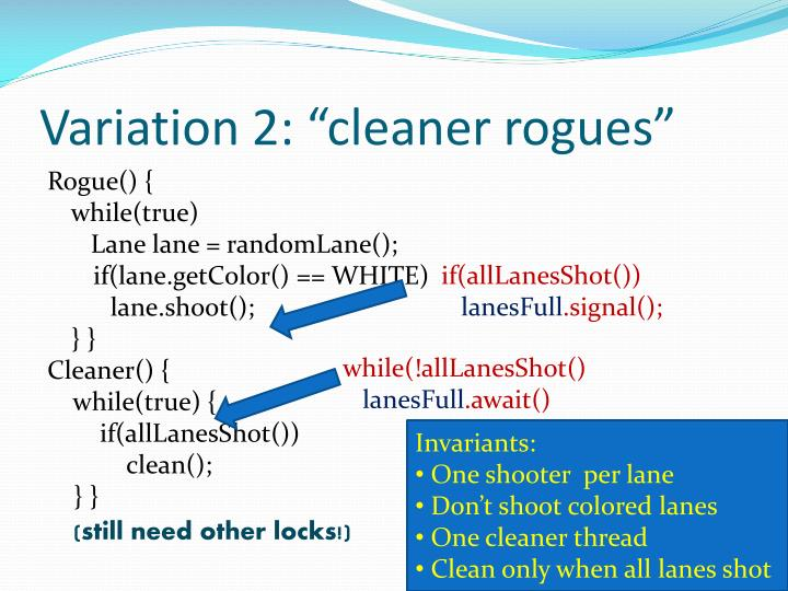 """Variation 2: """"cleaner rogues"""""""
