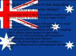 what are the effects in the australian society of mental illness