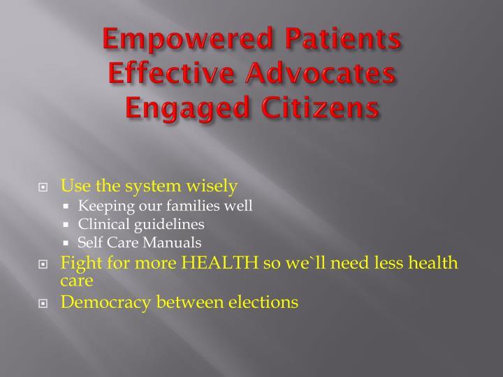 Empowered Patients