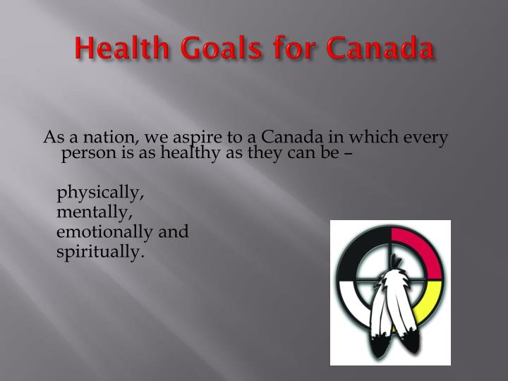 Health Goals for Canada