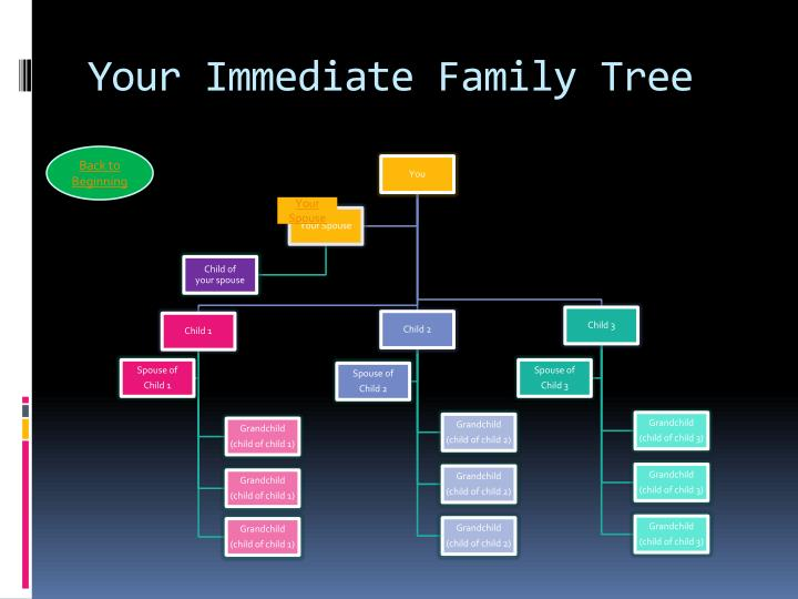 Your Immediate Family Tree