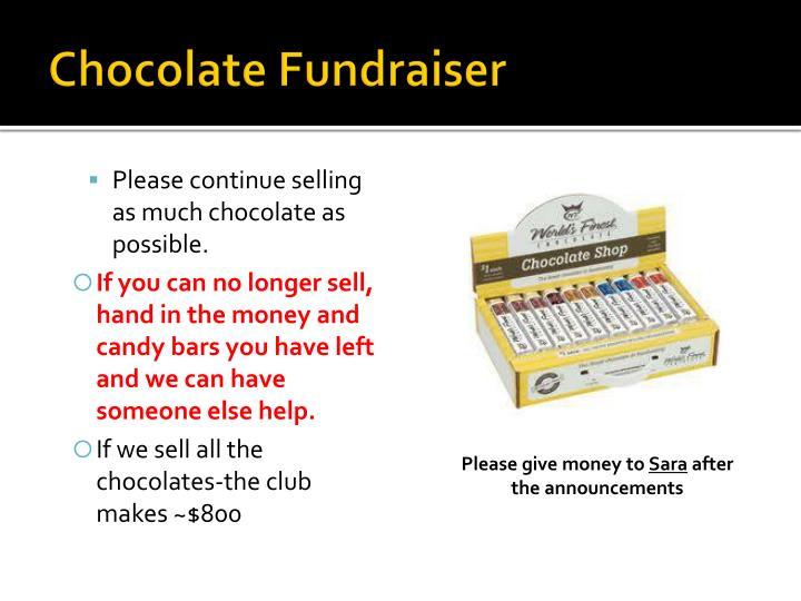 Chocolate Fundraiser