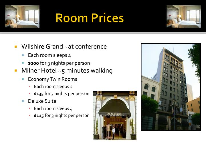 WPA      Room Prices