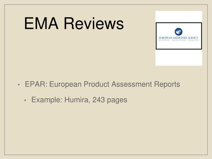 EMA Reviews