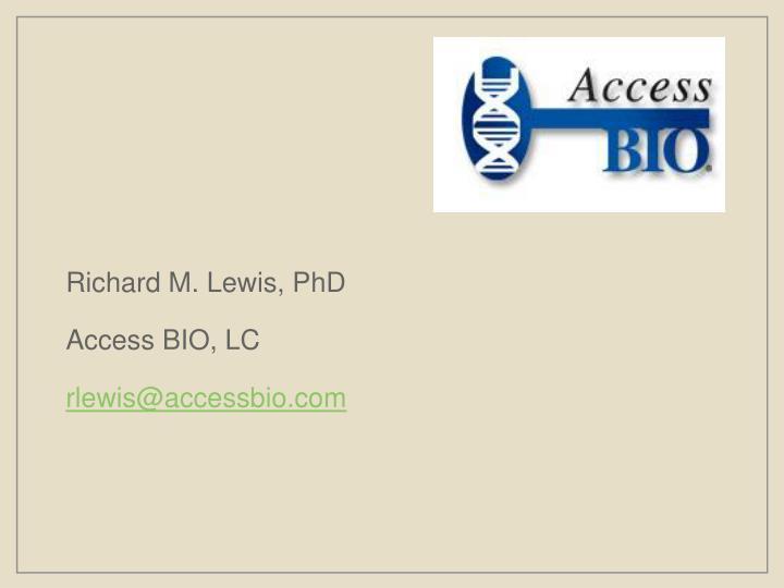 Richard M. Lewis, PhD