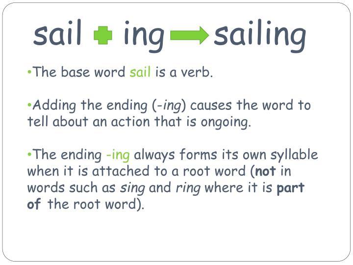 Sail ing sailing