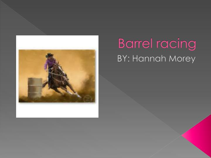 barrel racing n.