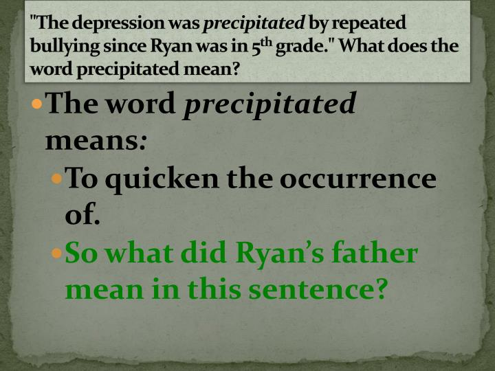 """""""The depression was"""