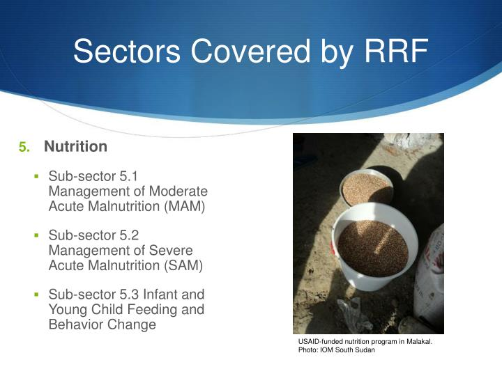 Sectors Covered by RRF