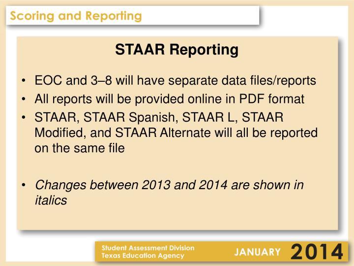 STAAR Reporting