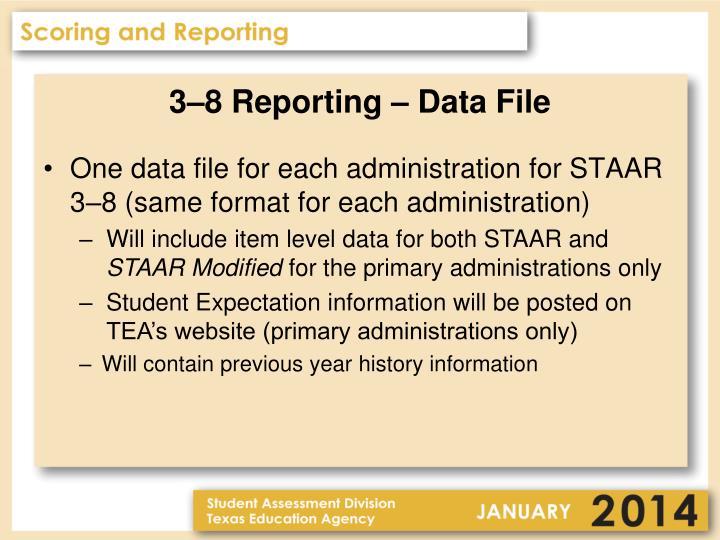 3–8 Reporting – Data File