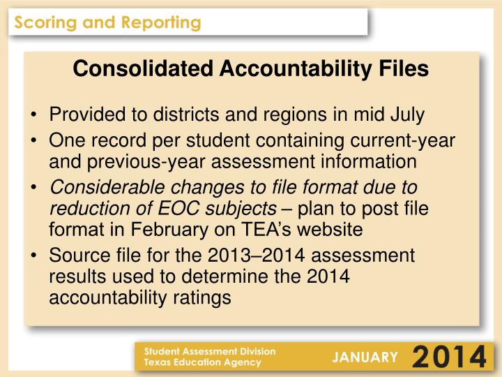 Consolidated Accountability Files