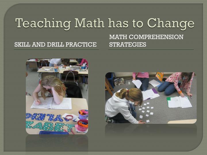 Teaching math has to change