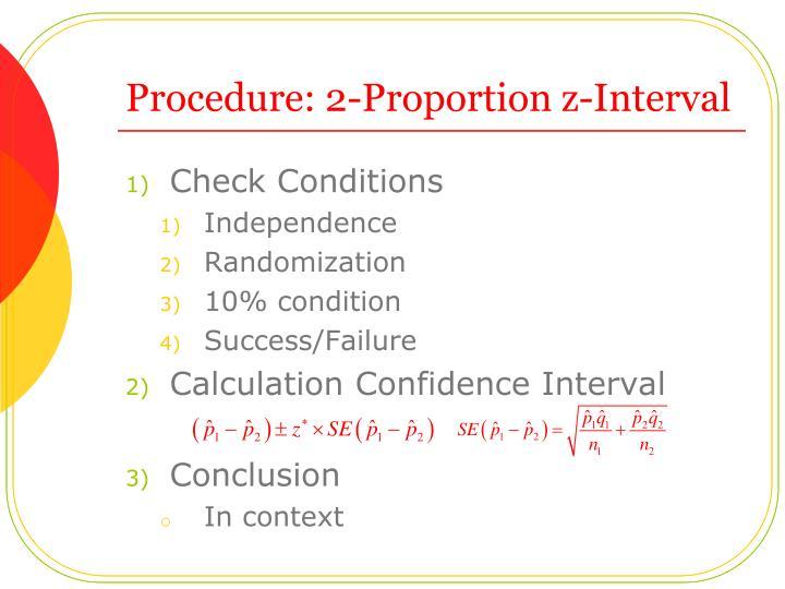 Procedure: 2-Proportion z-Interval