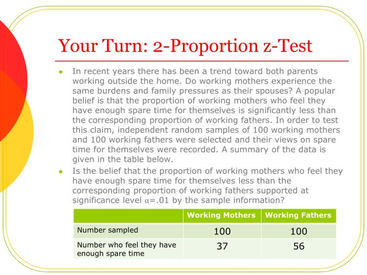 Your Turn: 2-Proportion z-Test
