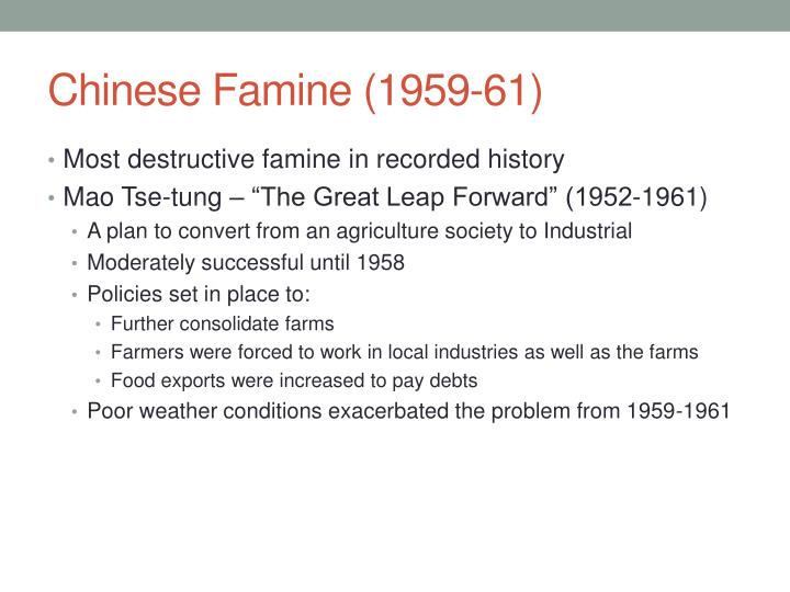 Chinese Famine (1959-61)