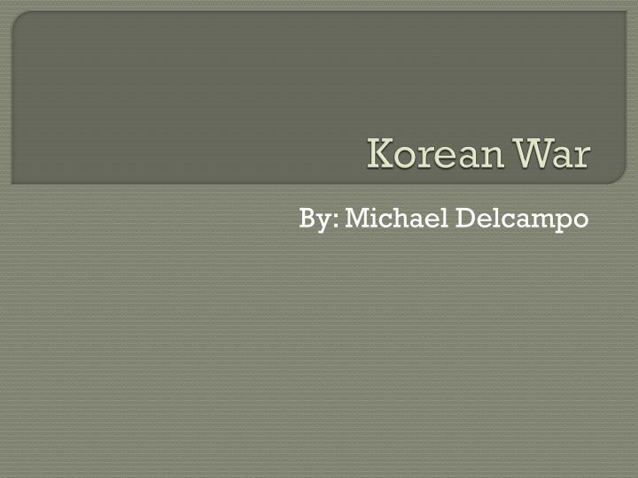 korean war n.