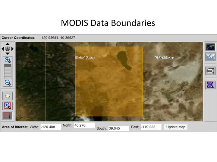 MODIS Data Boundaries