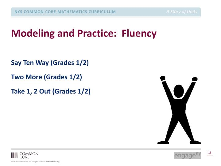 Modeling and Practice:  Fluency