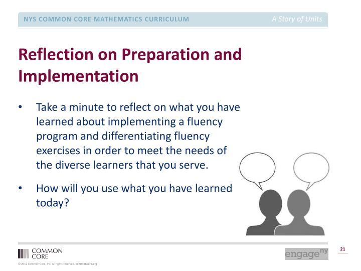 Reflection on Preparation and Implementation