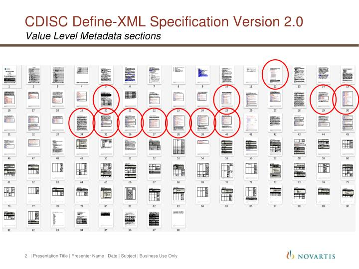 Cdisc define xml specification version 2 0