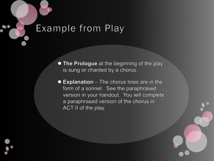 Example from Play