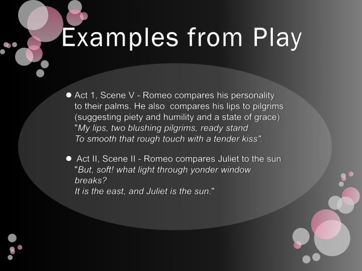 Examples from Play