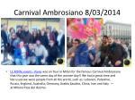 carnival ambrosiano 8 03 2014