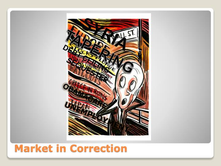 Market in correction