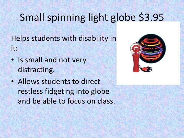 Small spinning light globe $3.95