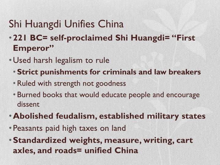 Shi Huangdi Unifies China