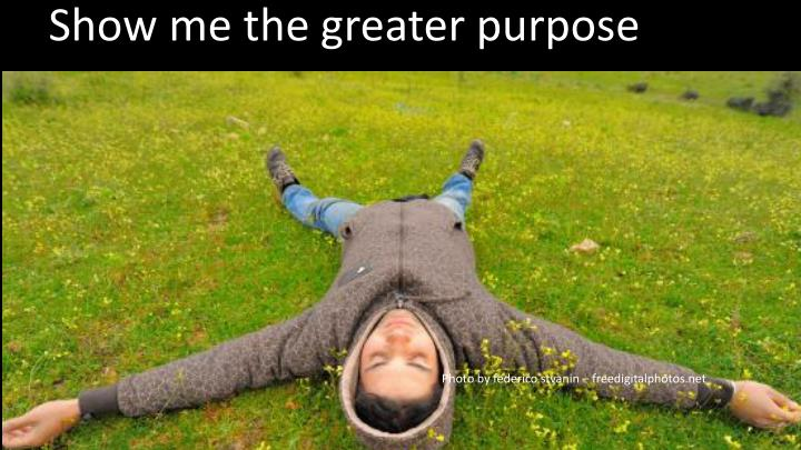 Show me the greater purpose