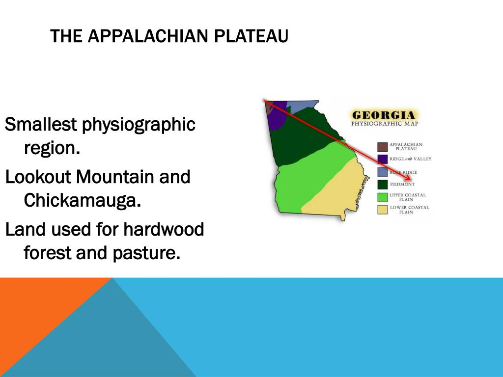 Map Of Georgia Physiographic Regions.Ppt Physical Georgia Powerpoint Presentation Id 2573378