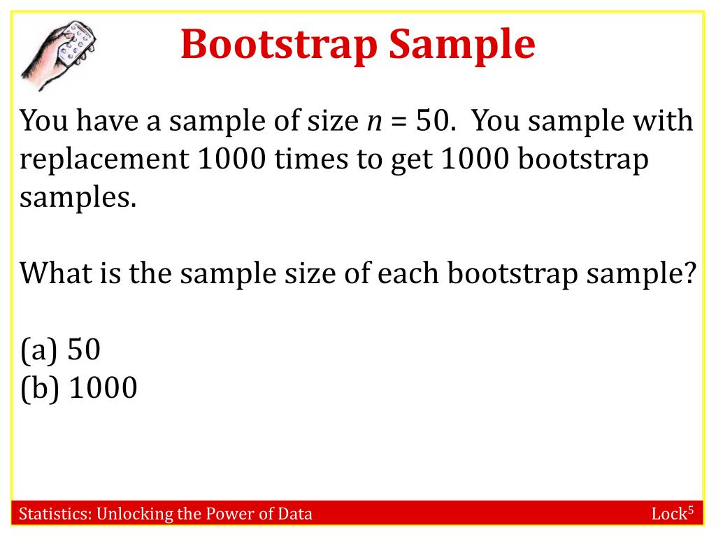 PPT - Confidence Intervals: Bootstrap Distribution