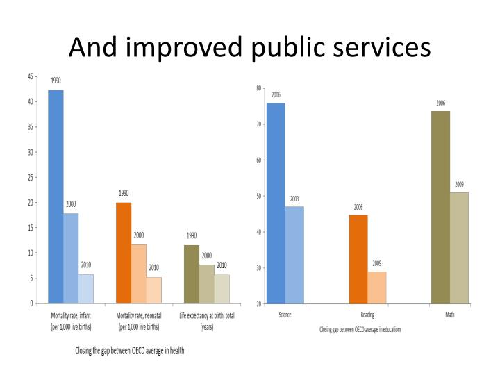 And improved public services