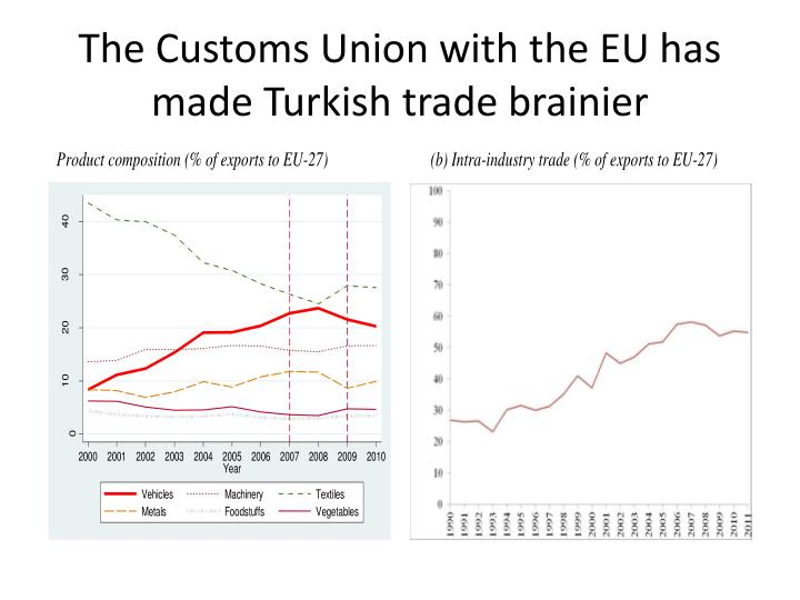The Customs Union with the EU has made Turkish trade brainier
