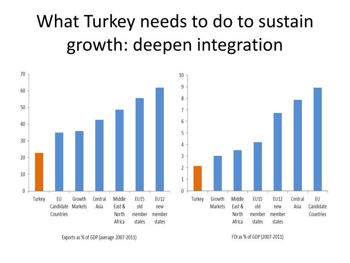 What Turkey needs to do to sustain growth: deepen integration