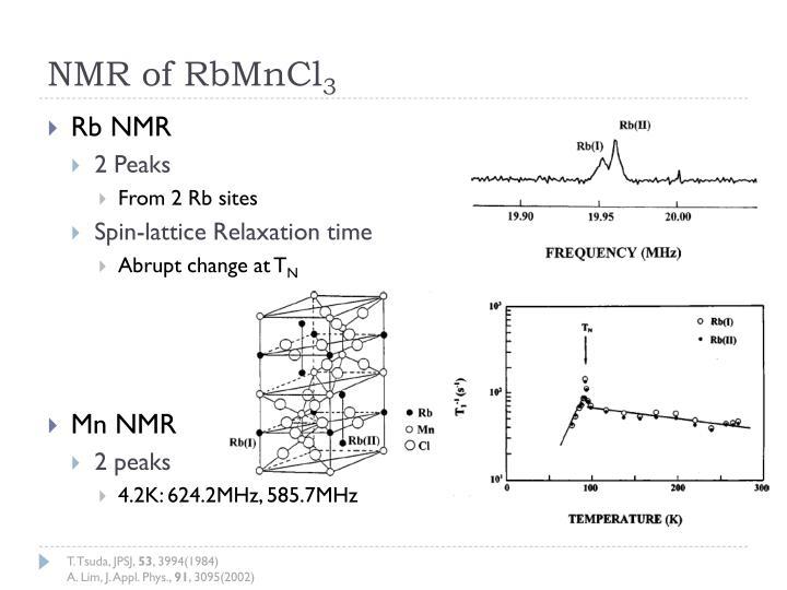 NMR of RbMnCl
