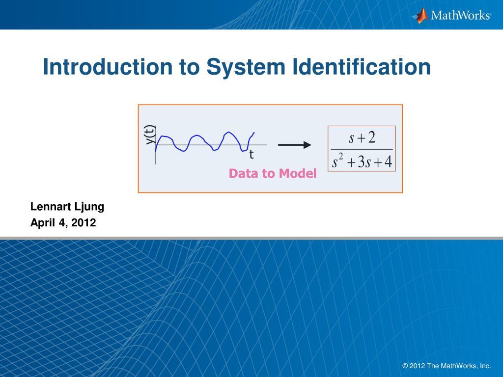 system identification ljung lennart