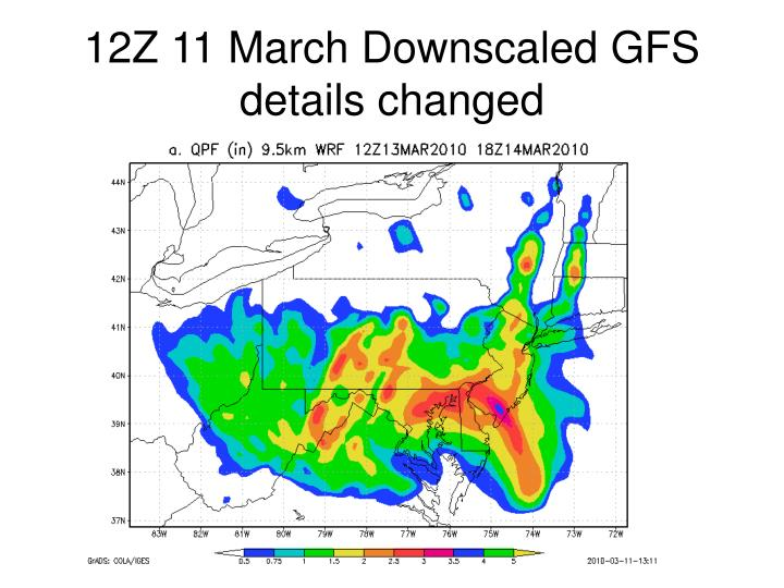 12Z 11 March Downscaled GFS