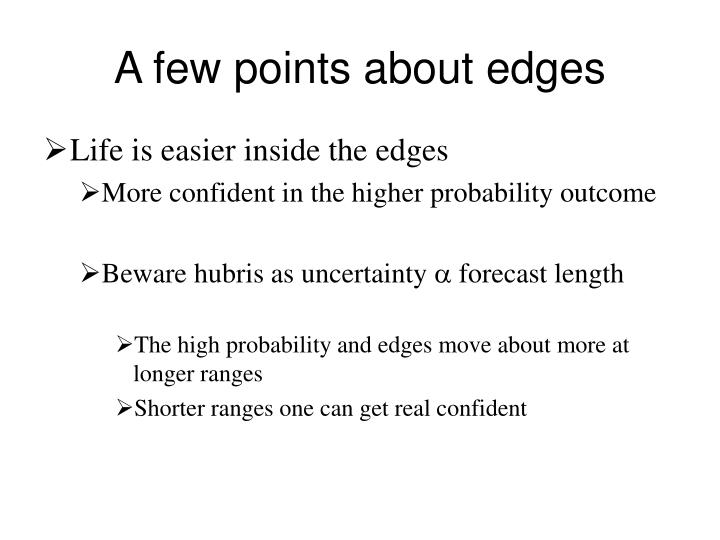 A few points about edges