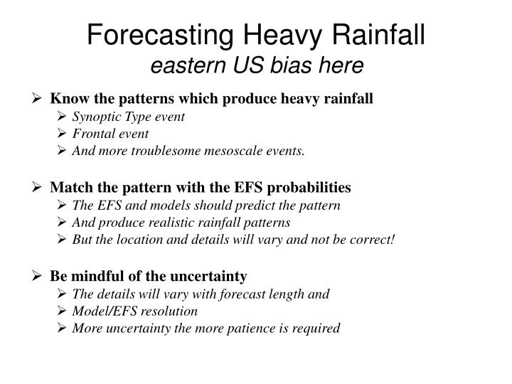 Forecasting Heavy Rainfall