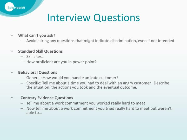 Interviewing Questions Ppt - Imagez co
