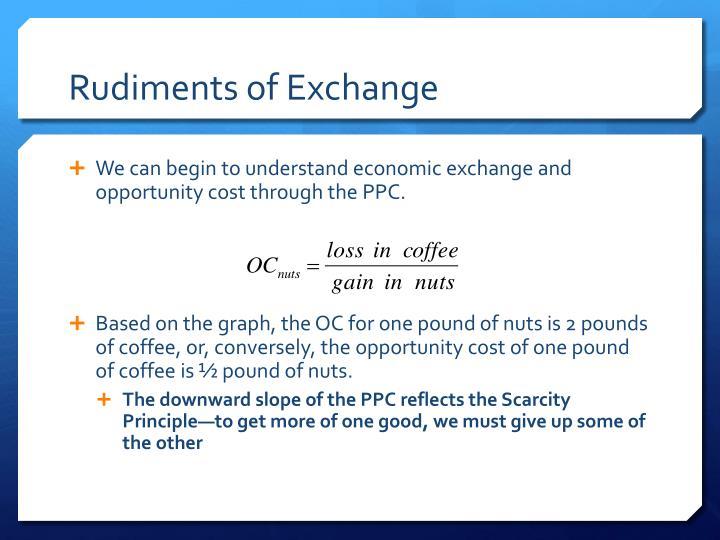 Rudiments of Exchange