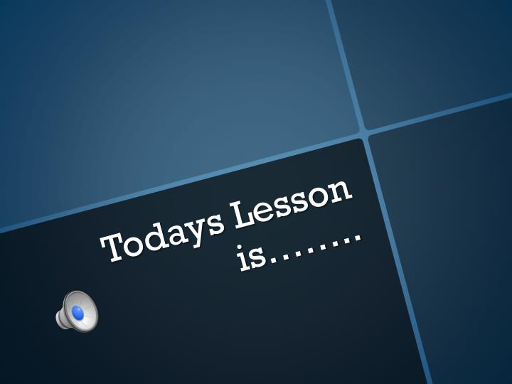todays lesson is n.