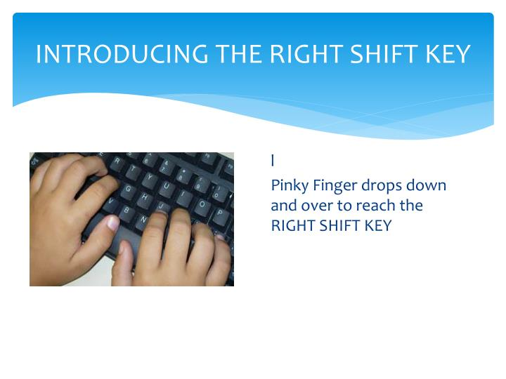 Introducing the right shift key